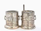 Japanese Sterling Silver Salt & Pepper Karabitsu Box