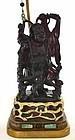 Old Lg Chinese Amber Happy Buddha Figurine Jade Lamp