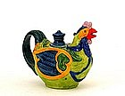 Old Japanese Banko Ware Phoenix Shape Teapot