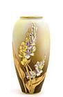 Japanese Nippon Coralene Flower Vase Mk