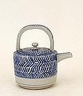 Old Japanese Blue & White Imari Winepot Teapot