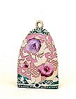 Japanese Nippon Pink Moriage Wall Pocket Vase
