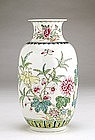 Old Chinese Export Famille Rose Flower Vase