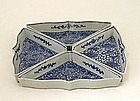 4 Old Chinese Blue & White Dish with Flowers