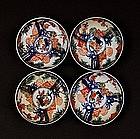 4 Meiji Japanese Imari Shojikubai Motif Dish Mark
