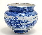 Old Japanese Blue & White Imari Seto Round Planter