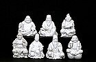 Old Japanese Imari Studio 7 Lucky God Set Figurine Sg