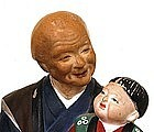 Japanese Hakata Urasaki 3 Doll Grandparents & Baby