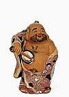 Japanese Kutani Moriage Hotei Figurine 7 Lucky God