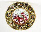 Old Japanese Nippon Green Gold Beaded Fruit Plate