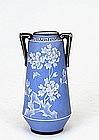 Old Japanese Nippon Moriage Jasper Wedgewood Vase