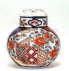 Old Japanese Imari Flower Scene Salt Pepper Shaker