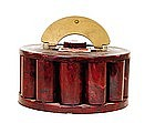 Vintage Bakelite Catalin Burgundy Poker Chip Holder