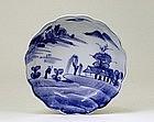 Old Japanese Blue & White Imari Kutani Plate