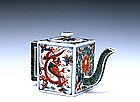Old Japanese Imari Dragon Mini Teapot