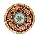 Old Japanese Nippon Gold Beaded Star Plate