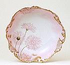Old French Limoges Limoge Gold Flower Bowl Mk