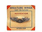 Vintage Sterling Air Force Navigator Wings