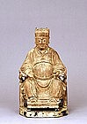 Old Chinese Wood Carved Buddha God Deity