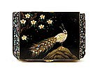 Old Japanese Lacquer Pearl Shell Jewelry Music Box