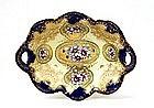 Old Japanese Nippon Cobalt Blue Bowl w Flower