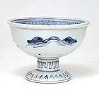 19C Japanese Blue & White Imari Sake Cup Washer Sake Cup Washer