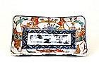 Old Japanese Imari Geisha Samurai Rectangular Plate