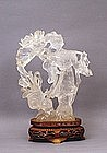 Old Chinese Rock Crystal Lady Figurine
