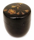 Japanese Makie Lacquer Tea Caddy Natsume