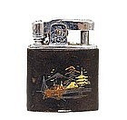 Old Japanese Mixed Metal Komai Style Cigarette Lighter