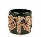 Old Japanese Pottery Grape Mug Tankard Cup Sg