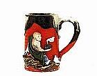 Old Japanese Sumida Gawa Monk Mug Tankard Cup Sg