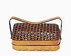 Japanese Tea Bamboo Basket w Box Sg