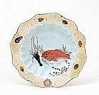 5 Old Japanese Kutani Imari Dish Fish & Lobster Sg