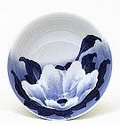 5 Meiji Japanese Blue & White Hirado Bowl Sg