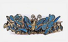 19C Chinese Kingfisher Feather Hair Band