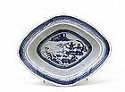 Old Japanese Blue & White Imari Bowl Chinese Export Mk