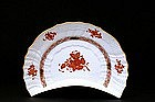 Herend Chinese Bouquet Rust Crescent Shp Salad Dish
