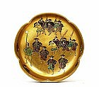 Old Japanese Satsuma Bowl Samurai Signed Koshida