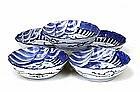 5 Old Japanese Blue & White Imari Bowl