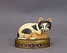 "Estee Lauder Perfume Box Cat "" Cinnabar Solid """