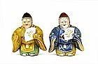 Japanese Kutani Noh Dancer Salt & Pepper Sg