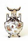 Japanese Nippon Handpainted  Moriage Flower Vase