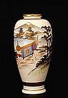 Old Japanese Satsuma Palanquin Ride Figurine Vase Sg