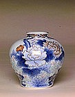 Old Japanese Imari Studio Fukagawa Style Flower Vase Sg