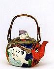 Old Japanese Banko 7 Luck Gods  Teapot