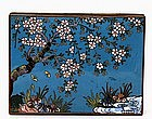 Old Japanese Cloisonne Box  w Flower Cherry Blossom