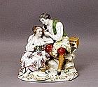 Vintage Meissen Dresden Style German Figurine Mk