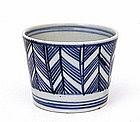19C Japanese Blue & White Imari Soba Choko Noodle Cup