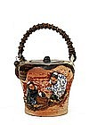Old Japanese Sumida Gawa Teapot W Figure Ryosai